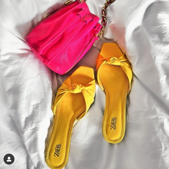 Zara knotted heeled leather sandals